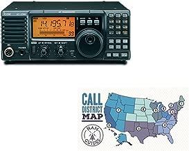 Icom IC-718 Base radio, HF, 100W and Ham Guides Pocket Reference Card Bundle