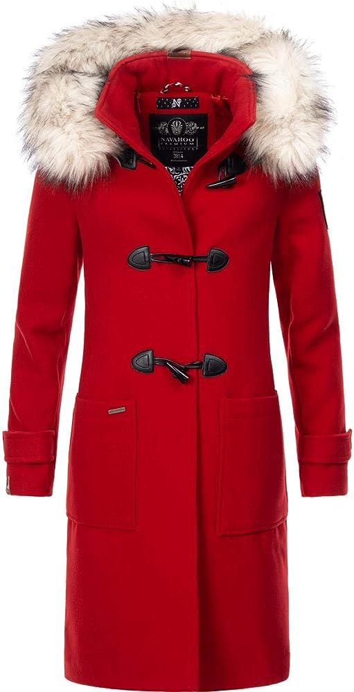 Navahoo,cappotto invernale da donna,parka da donna effetto lana con cappuccio Oksana-25