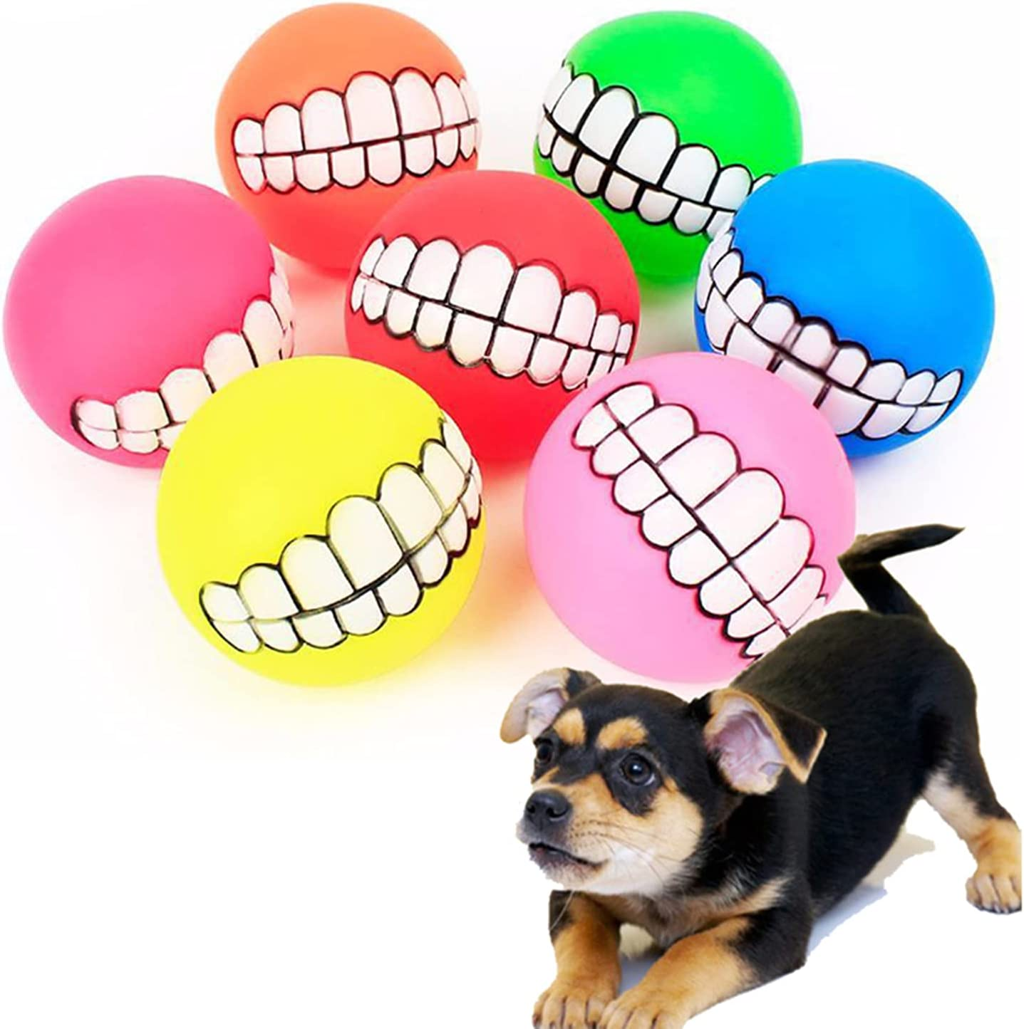 Cheap mail order shopping WJY Funny Teeth Balls for Dogs 7 Fun Finally popular brand P Pet Nontoxic Pcs Toy