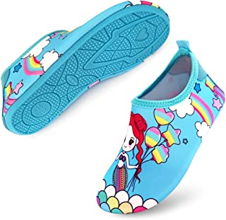 MCERMR Kids Swim Water Shoes Toddler Boys Girls Barefoot Beach Shoes for Pool Beach Surfing Yoga Exercise