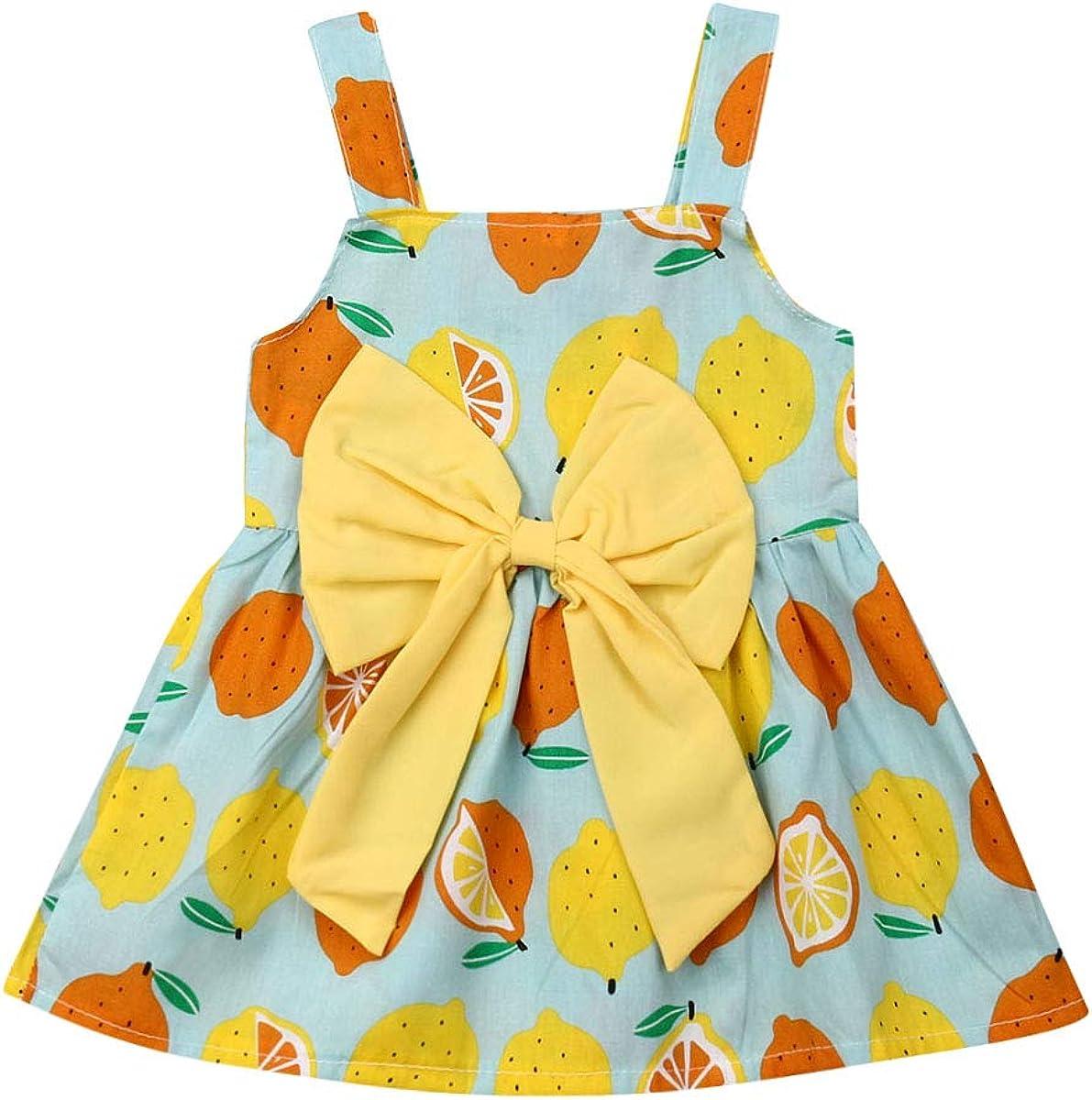 Dookingup Toddler Baby Girls Fruit Strap Dress Print High order Sleeveless Ranking TOP6