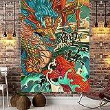 YDyun Tapiz Tela Decoración del Hogar Estera de Yoga Paño de decoración de Dormitorio de Sala de Estar de Dibujos Animados de Tela Colgante