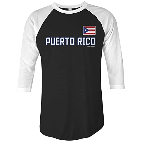 f48cf1d3a3 Threadrock Puerto Rico National Pride Unisex Raglan T-Shirt