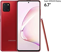 Samsung Galaxy Note 10 Lite Smartphone, 128 GB, 8 GB RAM, Dual SIM, Android, UAE Version - Red