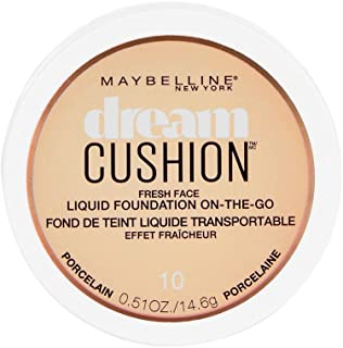 Maybelline New York Dream Cushion Fresh Face Liquid Foundation, Porcelain, 0.51 oz.