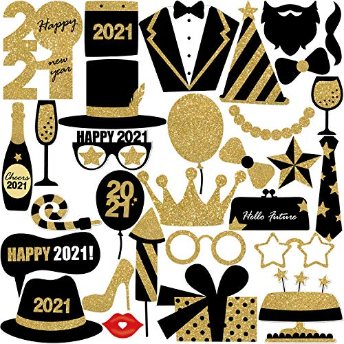 New Years Photo Booth Props 2021