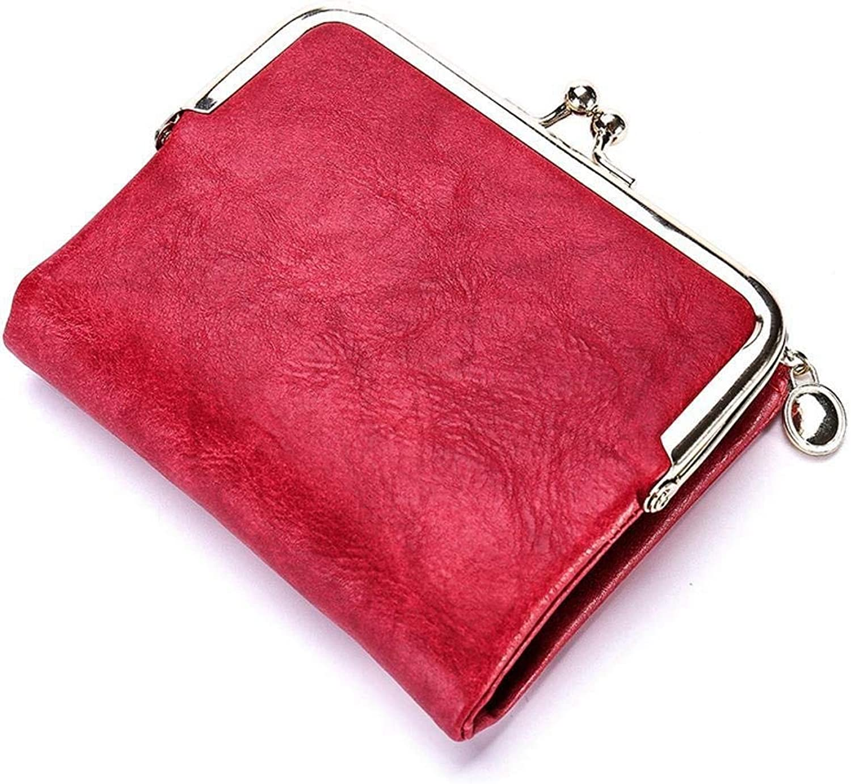 Girls Purse Women's Wallet,Women's Wallet Short Wallet Multifunctional Card Bag Zipper Drawer PU Leather (color   A)