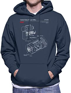 NASA US Laboratory Module Destiny Blueprint Men's Hooded Sweatshirt