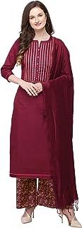 Radhe Indiano/Pakistano Moda Seta Miscela Abiti per le Donne Set di Vestito (Kurta, Fondo, Dupatta)