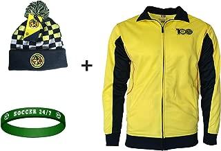 Club America Jacket Centenario Soccer Futbol + Beanie + Silicone Wristband Set 3 pcs Amer 002