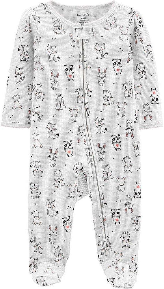 Carter's Animal Print Zip-Up Thermal Sleep & Play (Newborn)