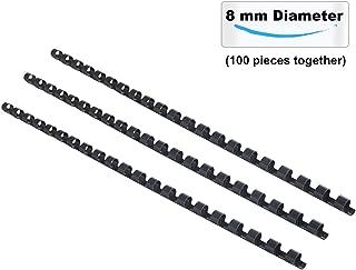 TIANSE Plastic Bindings Combs, 5/16'' Diameter,40 Sheets Capacity,21 Holes, Black (Pack of 100 Combs)