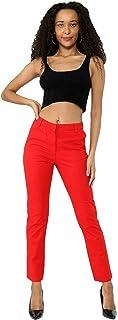 Pantalones vaqueros para mujer con pierna recta EX M*S Denim Turn Up Comfort Fit Pantalones