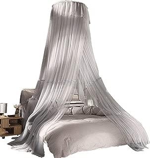 QNJM Grey Dome Mosquito Net, Bed Decorative Canopy Blocking Mosquitoes Decorative Dome Mosquito Net Bedding