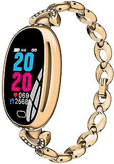 JXFS - Reloj Inteligente para Mujer con pulsómetro y podómetro, Resistente al Agua, con Seguimiento de Actividad y Bluetooth