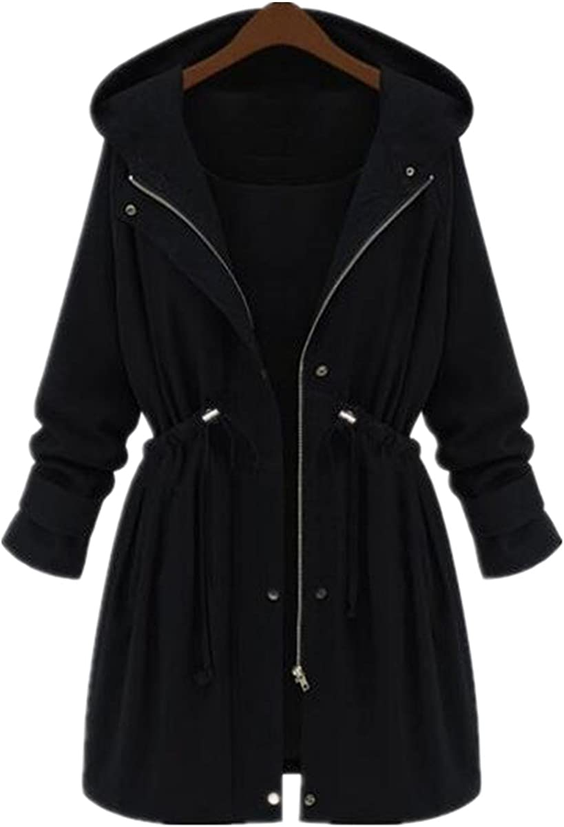 Taiduosheng Women's Militray Anorak Parka Hoodie Jackets Casual Coats with Hooded