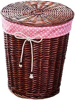 Xuan - Worth Having Panier en rotin Pratique en Osier vêtement Sale Panier de Rangement Mettre Seau boîte Maison Chambre S...