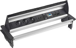 Elbe Regleta de Mesa, Regleta de 3 Tomas con 2 Puertos de USB Regleta de Mesa con 1 de HDMI, 1 Puertos de VGA, 2 Puertos d...