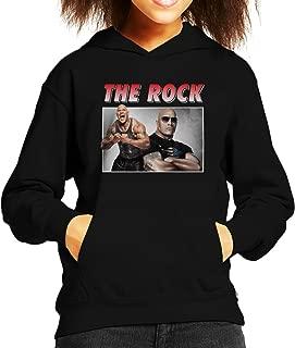 Dwayne The Rock Johnson Montage Kid's Hooded Sweatshirt