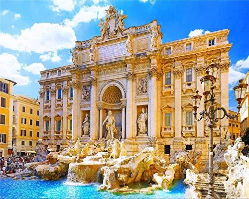RHUA1000 pezzi Puzzle Roma Fontana di Trevi Foto fai da te Decorazione in legno per la casa