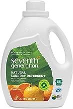 Seventh Generation Natural Laundry Detergent, Fresh Citrus, 100 oz. (Pack of 4)