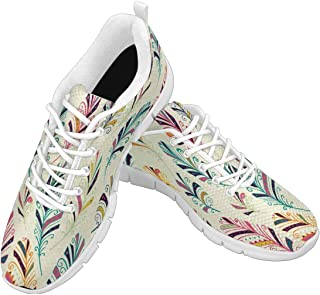 Women's Lightweight Breathable Sport Shoes Teen Girls Walking Running Sneakers Native Dream Catcher Pattern Size US6-12