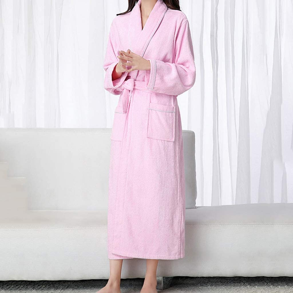 ZSQAW Cotton Toweling Mesa Mall Time sale Terry Extra Long Soft Robe Lovers Bath Rob