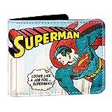 SupermanVintage Comic Superman Wallet In Gift BoxUnisex adultoCarterasMulticolor (Light Blue) 13.5x16x4 Centimeters (W x H x L)