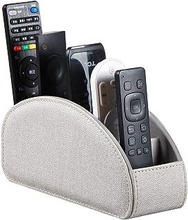 Soporte para mando a distancia con 5 compartimentos, de piel sintética, organizador de computadora, para TV, DVD, Blu-ray,...