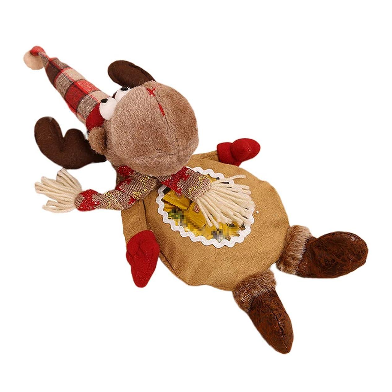 住人科学カーペットAmosfun パーティー用クリスマスキャンディバッグエルク布ギフトバッグクリスマスパーティー用品(elk)