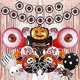 SHLMO Halloween película de aluminio globo decoración arreglo fantasma Festival fantasma cráneo calabaza murciélago aluminio aluminio globo Halloween espeluznante calabaza cabeza conjunto