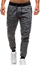 Leorealko Men Long Casual Sports Pants Gym Slim Fit Trousers Running Joggers Gym Sweatpants
