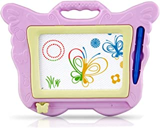 AISIBO Magnetic Drawing Board for Kids, Erasable Colorful Magna Doodle Drawing Board Toys Write Learn Sketching Pad, Travel Gift for Boy Little Girl Pink