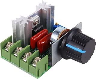 Speed Regulator TOPINCN Voltage Variator Temperature, Adjustable motor speed regulator AC 50-220V 2000W