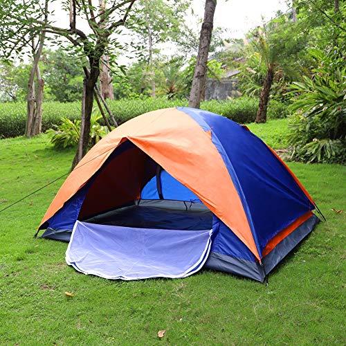 Kuppelzelt Outdoor Zelt für 1-2 Personen Wasserdicht&Winddicht Schnellöffnungs Wurfzelt mit Tragetasche für Trekking Festival Sport Backpacking Picknick (Orange)