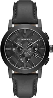 Burberry Leather Casual Watch for Men, Analog, BU9364