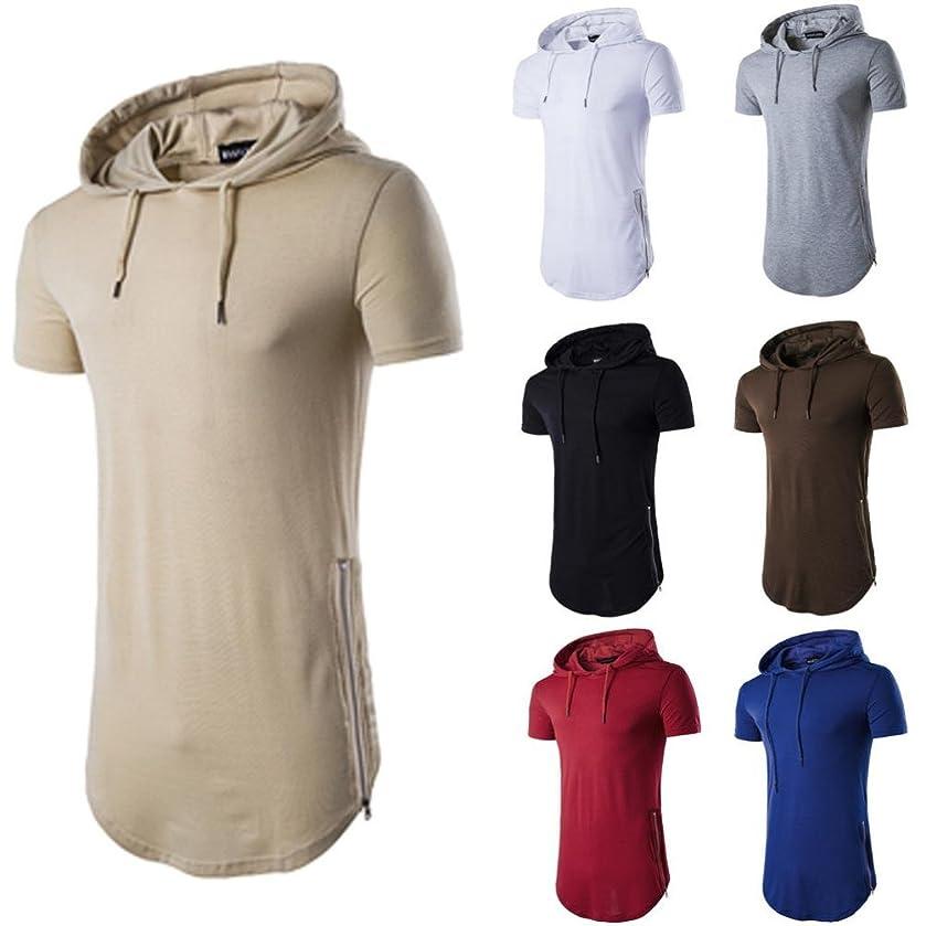 vermers Deals Fashion Tops for Men - Hipster Hip Hop Hoodie Side Zipper T Shirts