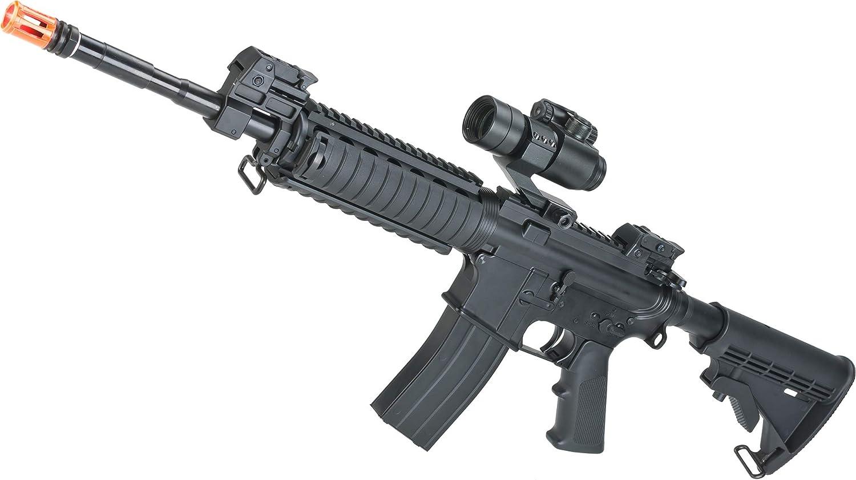 Evike KJ Works Full Metal M4 San Antonio Mall Rifle RIS Airsoft Gas GBB Max 52% OFF Blowback