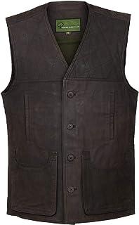 G010: Men's Brown Leather Gilet/Shooting Vest