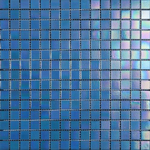 Decostyle DEC-74291AXT005 - Mosaico de Vidrio en Malla, Azul