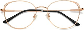 Cat Eye Blue Light Blocking Glasses Hipster Metal Frame Women Eyeglasses She Young