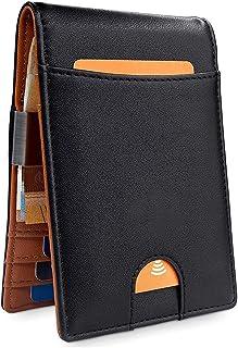 Wallets Mens RFID Blocking with Money Clip, Bi-fold Slim Leather Men Wallet Credit Card Holder