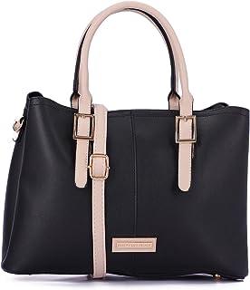 Dejavu Black Angular Hand Bag For Women, One Size