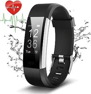 Pulsera Actividad Con GPS,ID115Plus HR Bluetooth Pulsera Intellgente con Ritmo cardiaco,Contador de pasos,Monitor de sueño,IP67 Impermeable,Podómetro para Android y iOS Telefono movil,COOLEAD(Negro)