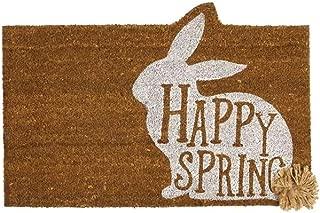 Mud Pie Easter Happy Spring Door Mat Coir Doormat, Brown