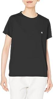 [チャンピオン] Tシャツ 半袖 吸水速乾 UVカット 透け防止 ワンポイントロゴ クルーネック シンプル スポーツ 部活 ジム トレーニング 部屋着 CWSTS301 レディース