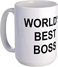 CafePress Original World's Best Boss Large Coffe Mug Coffee Mug, Large 15 oz. White Coffee Cup