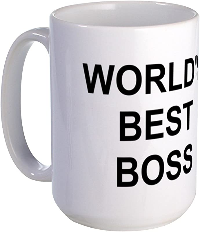 CafePress Original World S Best Boss Large Coffe Mug Coffee Mug Large 15 Oz White Coffee Cup