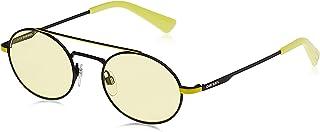 نظارة شمسية للرجال من ديزل - لون اسود/ ازرق معدني - DL028905J51