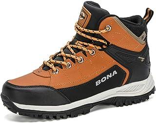 HAOJUE Bottes d'hiver chaudes et antidérapantes en peluche pour homme - Pour randonnée - Couleur : marron clair - Taille : 45